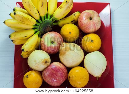 variety of fresh fruit on a platter treats, excellent for family health