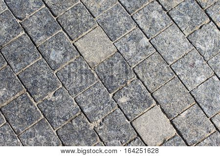 Stone roadway from granite area (close up)