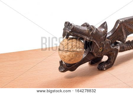Walnuts are very useful they are split so that's Nutcracker in the form of a dragon is a retro