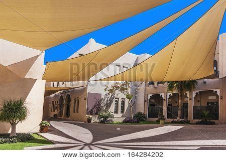 Covered street in Katara Cultural Village, Doha, Qatar