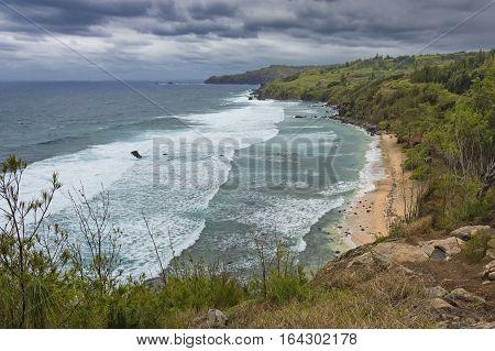 Waves and surf on the North Maui Coast Kapalua West Maui Hawaii USA