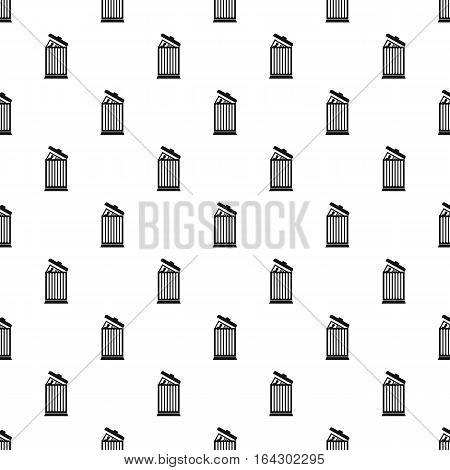 Summary in trash pattern. Simple illustration of summary in trash vector pattern for web