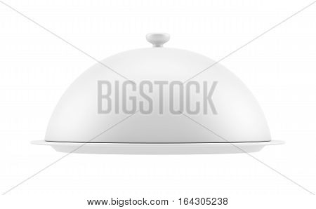 Closed cloche, isolated on white background. 3D illustration