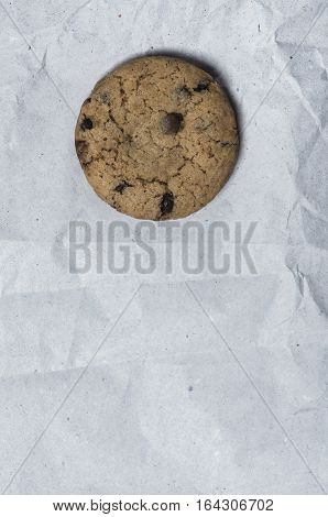 danish traditional cookie over a white reccled paper