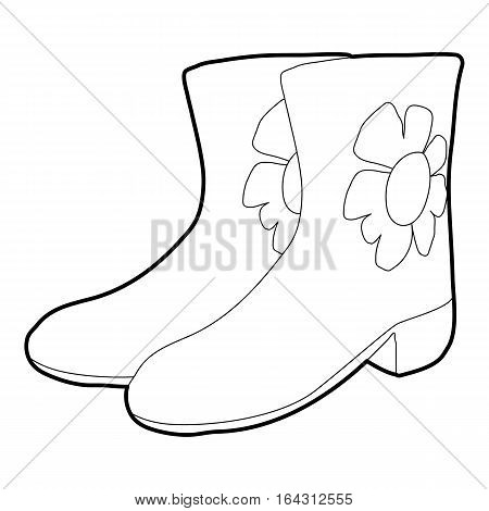 Rubber boots icon. Isometric 3d illustration of rubber boots vector icon for web