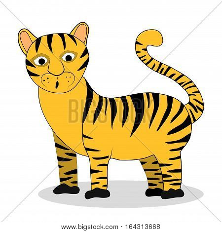 Tiger character vector. Tiger isolated illustration cartoon