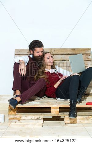 Young Couple Spend Time Together