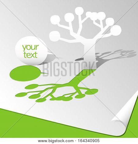 tree and speech bubble web source image
