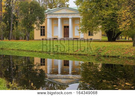 pavilion Concert Hall of the Landscape Park of the Catherine Palace, Tsarskoye Selo (Pushkin), neighborhood of Saint Petersburg, Russia