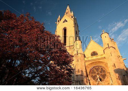 Saint-Jean de Malte church in Aix-en-Provence, France (shot in warm evening light)