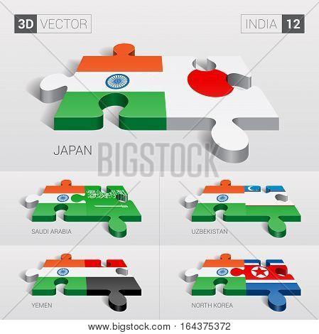 India puzzle part joint with Japan, Saudi Arabia, Uzbekistan, Yemen, North Korea.