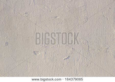 Plastered Aged Wall. Grunge Surface with Grain of Plaster.