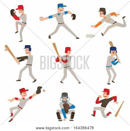 Baseball player vector silhouette. Isolated batter winning catcher icon. Hitting success game male illustration. Swinging american male sport ball.