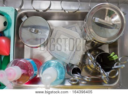 Medical equipment surgical instruments Operating Room in hospital Doctor surgery health care