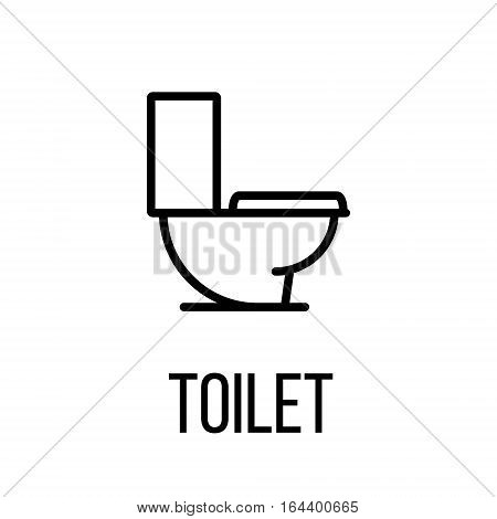 Toilet icon or logo in modern line style. High quality black outline pictogram for web site design and mobile apps. Vector illustration on a white background.