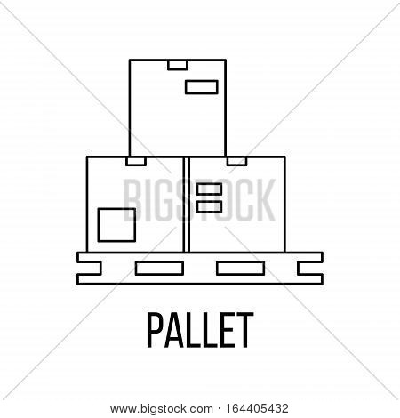 Pallet icon or logo line art style. Vector Illustration.