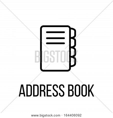 Address book icon or logo in modern line style. High quality black outline pictogram for web site design and mobile apps. Vector illustration on a white background.