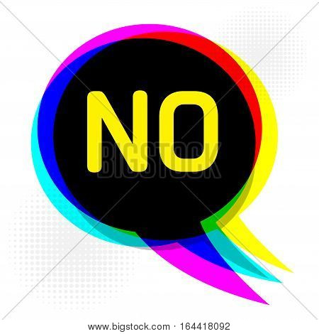 Speech Bubble in Pop-Art Style business concept with text No vector illustration