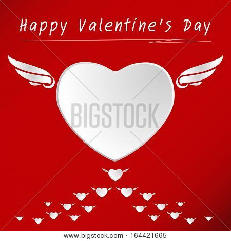 Heart for Valentines Day Background illustration vector