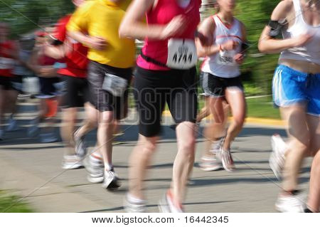 Marathon (motion blur) bib numbers have been changed