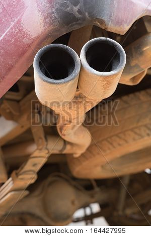Old Pipe Car Exhaust Rusty