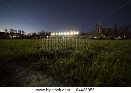 Stage With Evening Sports Facility