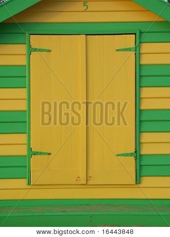 Yellow and green bathing box