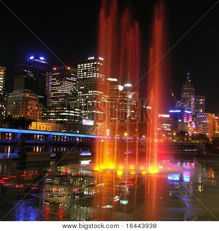 Fountain at Melbourne' Southbank