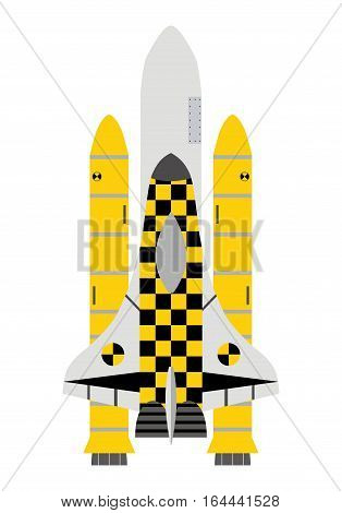 Taxi service in space. Taxi-shuttle icon. flat vector style.