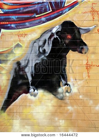 Street Art - bullfight #3