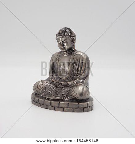 Great Buddha Or Daibutsu Silver Model.