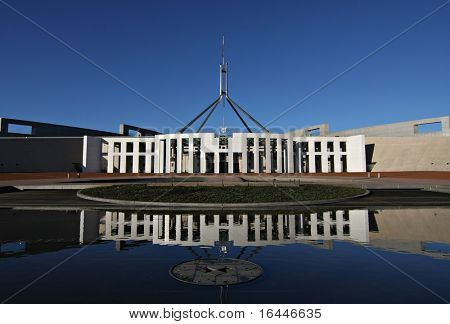 Australia's Parliament House and reflection - Canberra