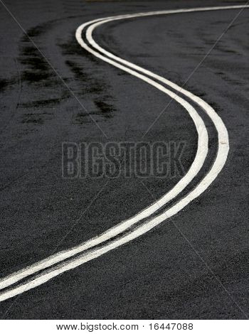 S bend in the road