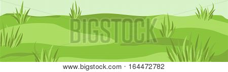 Meadow grassland sky field grass lea mead lawn grassplot green background texture backdrop vector beautiful closeup side view horizontal nature clean spring landscape illustration ground context fond