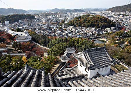 Blick von der Burg Himeji, Japan