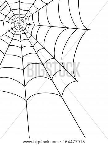 Spider Web Stock Vector Illustration