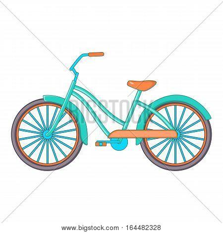 Bike icon. Cartoon illustration of bike vector icon for web design
