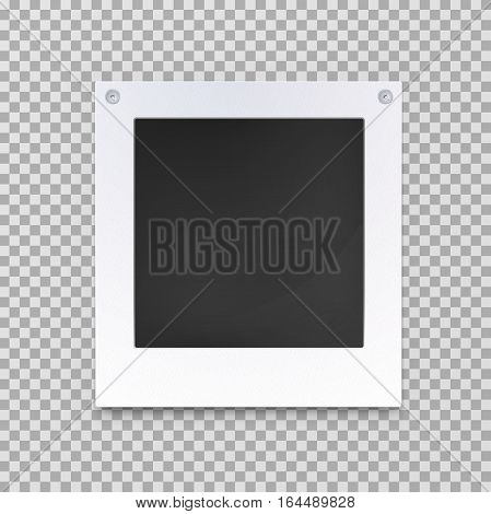 Blank photography frame or empty picture. Vintage image decoration backdrop, old photograph card shape, square with space for portrait or snapshot. Gallery and photo camera, memory theme