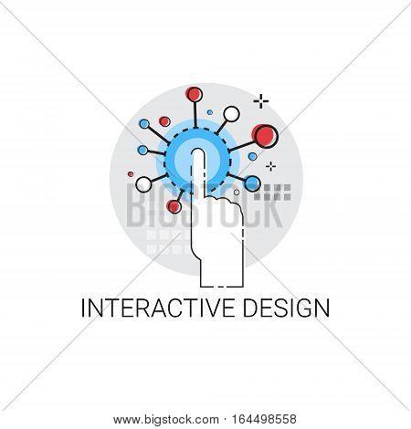 Interactive Design Creative Technology Icon Vector Illustration