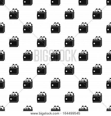 Purse with money pattern. Simple illustration of purse with money vector pattern for web