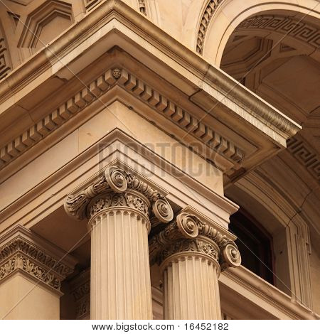 Pillars at Victoria's Old treasury Building