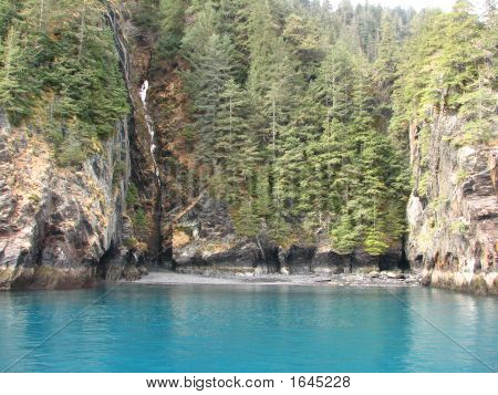 Glacial Water Of Ressurection Bay, Alaska