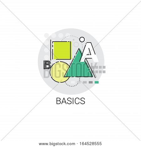 Basics Maths Knowledge Elearning Education Online Icon Vector Illustration