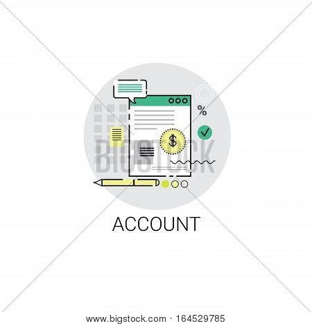 Account Finance Budget Planning Business Icon Vector Illustration
