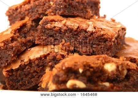 Pile Of Freshly Baked Brownies