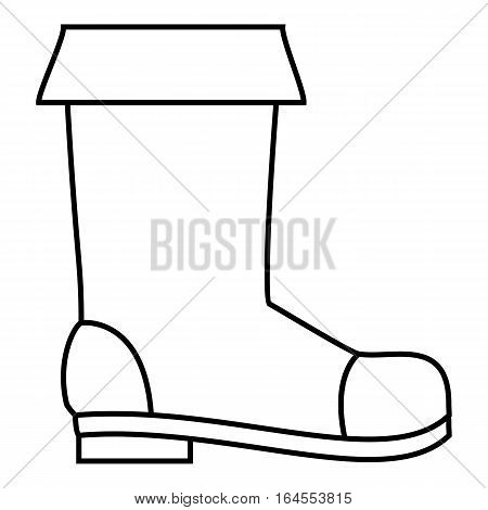 Rubber boot icon. Outline illustration of rubber boot vector icon for web