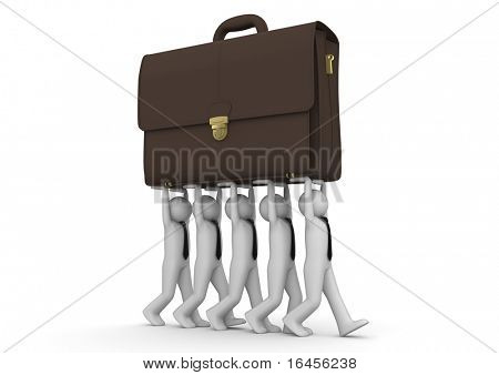 Businessmen carrying briefcase - Concepts collection