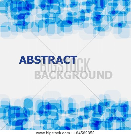 Abstract blue rounded rectangle overlapping background, stock vector
