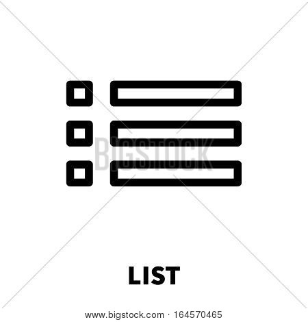 List icon or logo in modern line style. High quality black outline pictogram for web site design and mobile apps. Vector illustration on a white background.