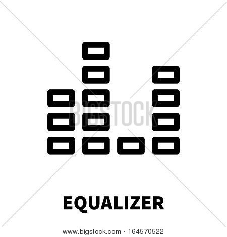 Equalizer icon or logo in modern line style. High quality black outline pictogram for web site design and mobile apps. Vector illustration on a white background.